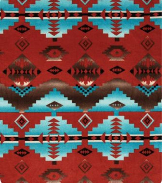Cody Copper Native American Fleece Fabric