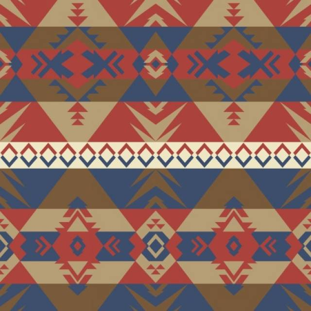 Warriors Native American Navy Fleece Fabric