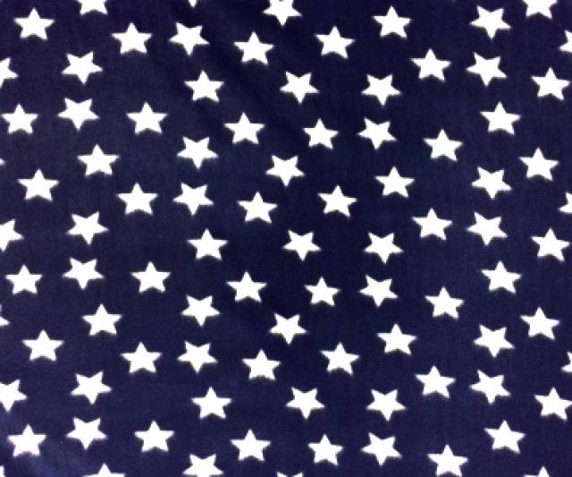 American Stars On Navy Fleece Fabric