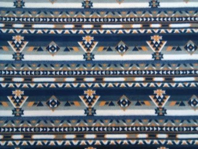 Southwest Aztec Navy Fleece Fabric