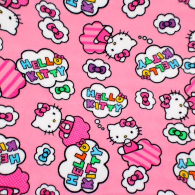 Hello Kitty Clouds & Bows Fleece Fabric