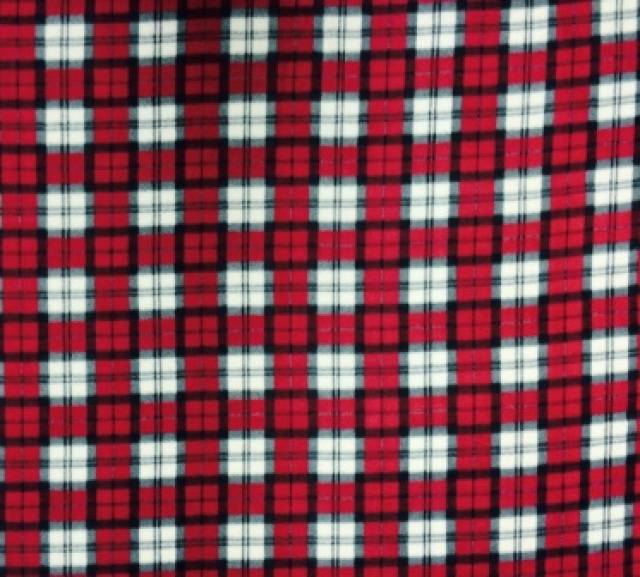 Red & Charcoal Plaid Fleece Fabric