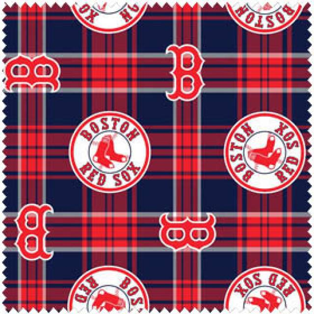MLB Boston Red Sox Plaid Fleece