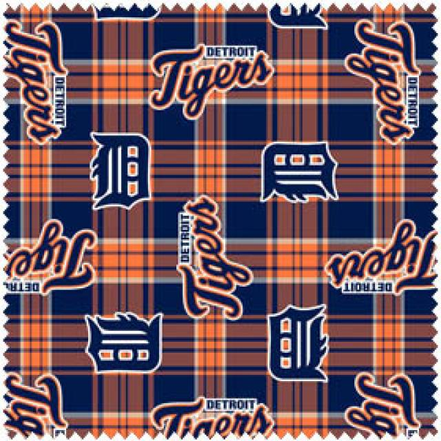 MLB Detroit Tigers Plaid Fleece