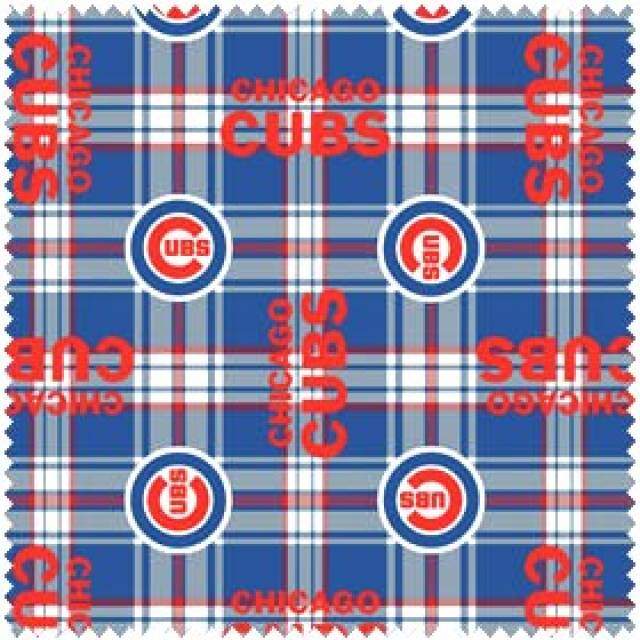 MLB Chicago Cubs Plaid Fleece