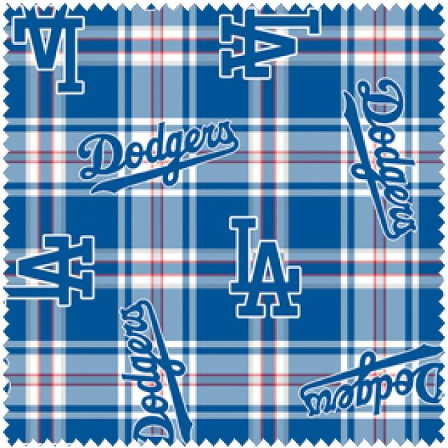 MLB Los Angeles Dodgers Plaid Fleece
