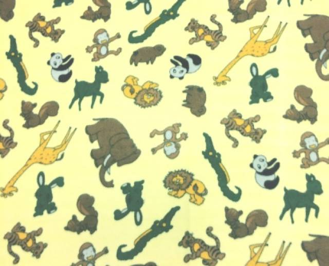 Happy Jungle Animals Fleece