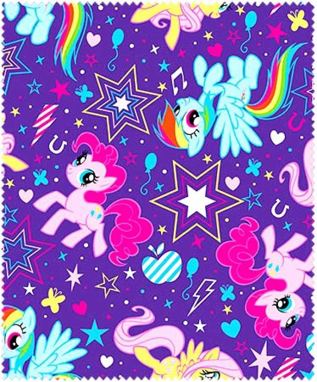Hasbro Studios Pony Cutie Power Fleece Fabric