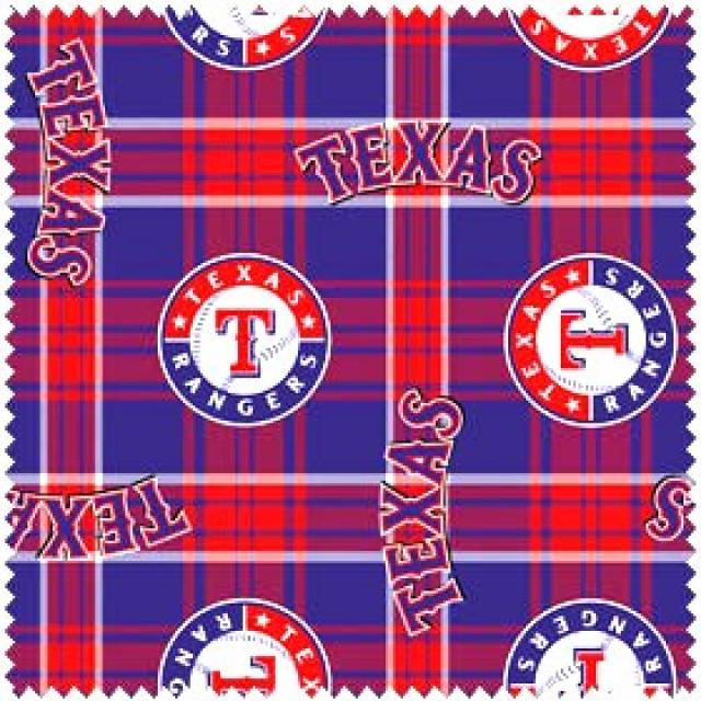 MLB Texas Rangers Plaids Fleece