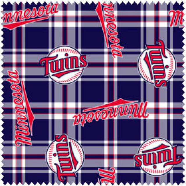 MLB Minnesota Twins Plaids Fleece