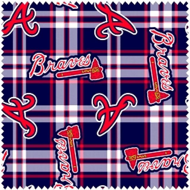 MLB Atlanta Braves Plaids Fleece
