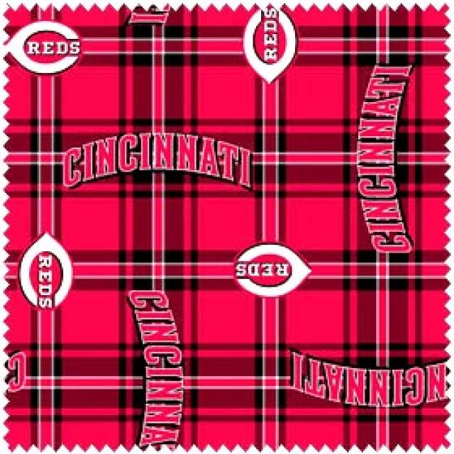 MLB Cincinnati Reds Plaids Fleece