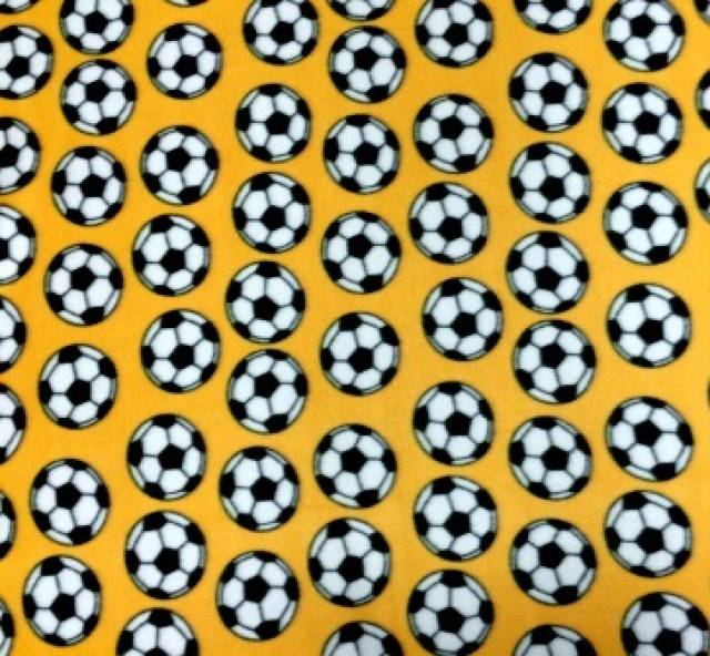 Soccer balls Gold Fleece