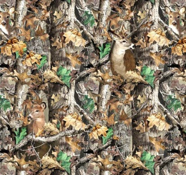 RealTree Deer In Camouflage Allover Fleece