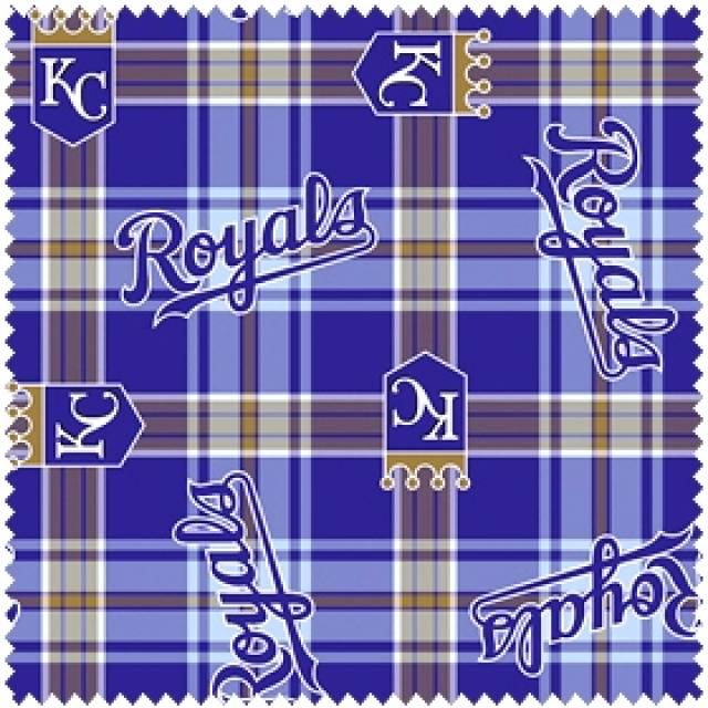 MLB Kansas City Royals Plaid Fleece