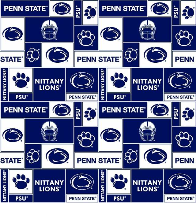 Penn State University Nittany Lions Fleece Fabric