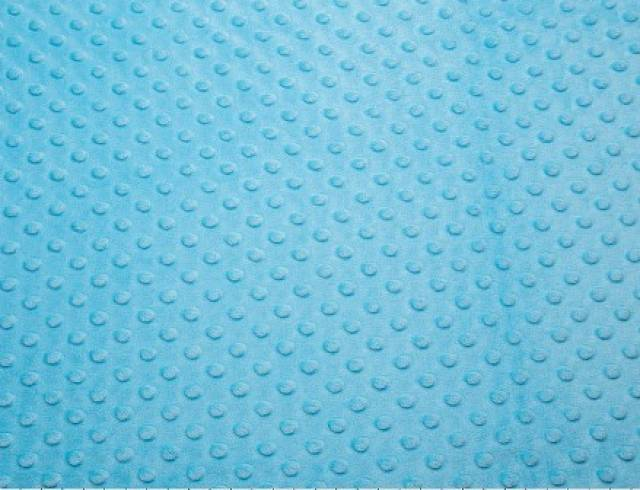Turquoise Minky Cuddle Dimple Dot Fabric