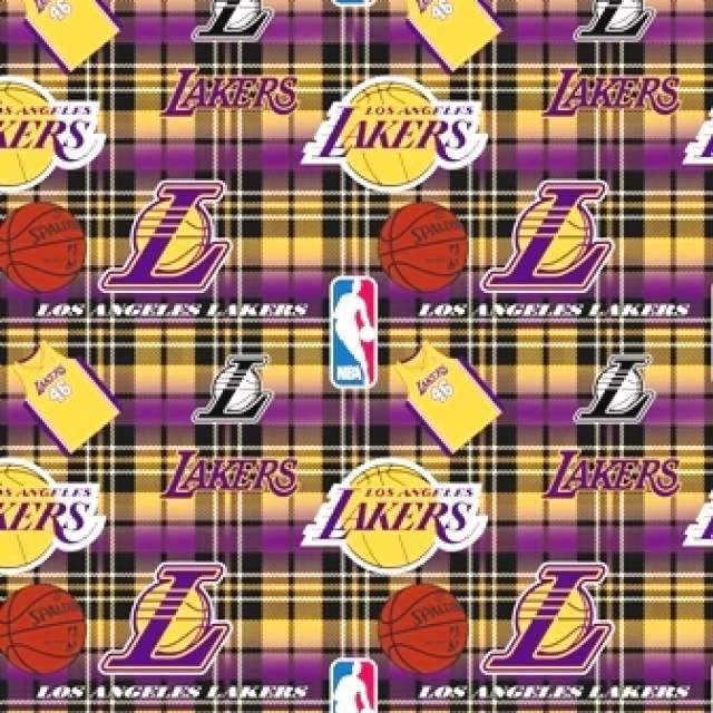 Los Angeles Lakers Plaids Fleece Fabric