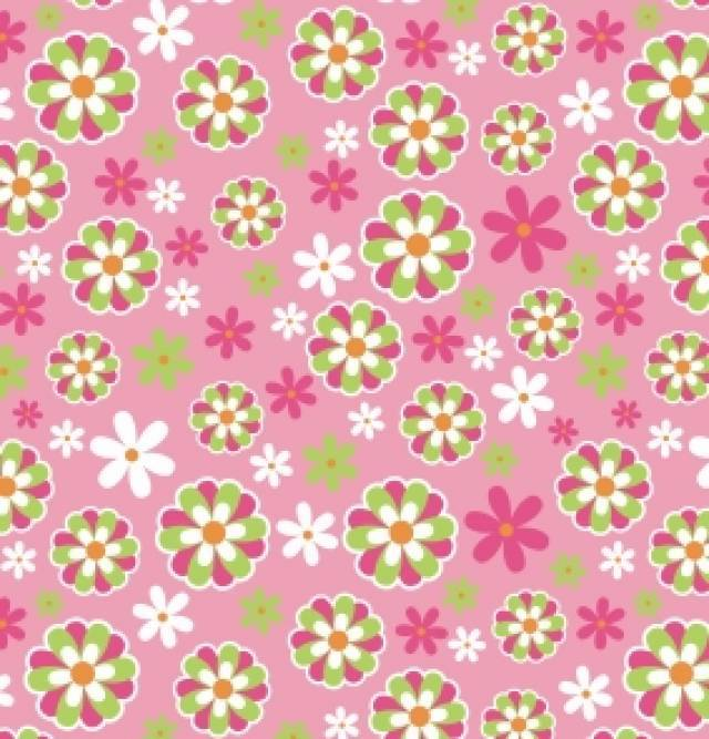 Daisy Floral Pink Fleece Fabric