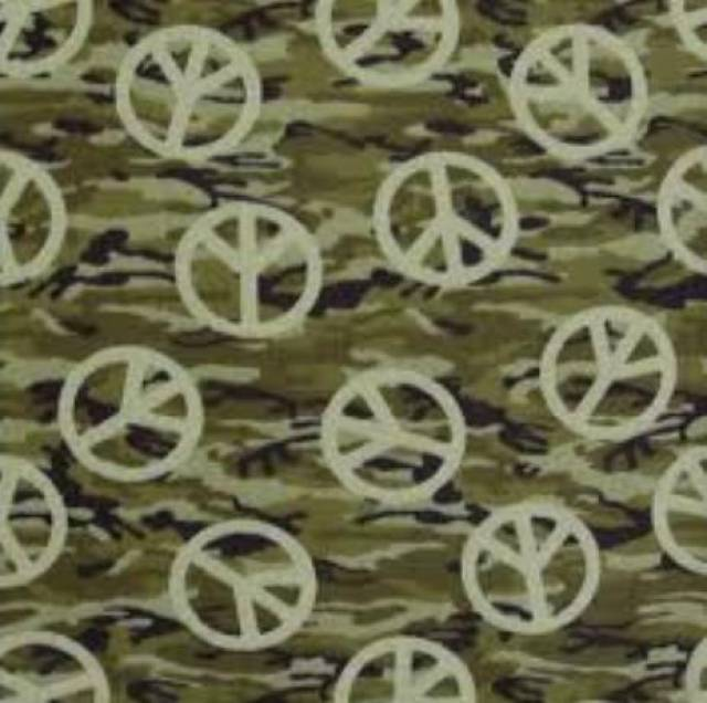 Camouflage  Peace Signs Fleece