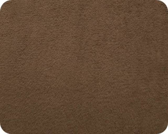 Brown Plush Fleece Fabric