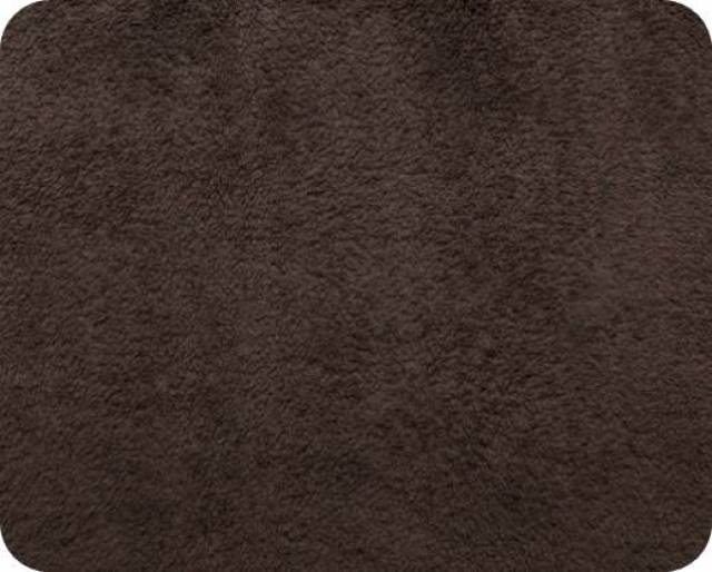 Chocolate Plush Fleece Fabric