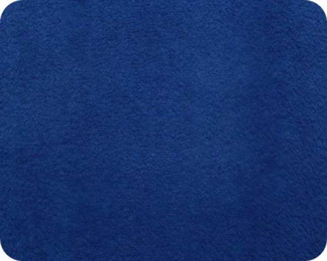 Midnight Navy Plush Fleece Fabric