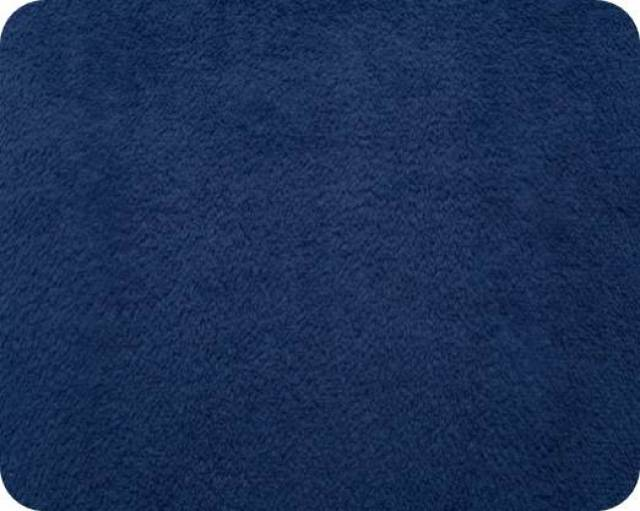 Navy Plush Fleece Fabric