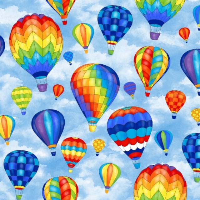 Hot Air Balloons Fleece