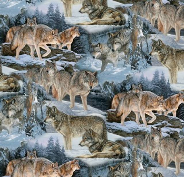 Wolves In Snow Hunting Fleece