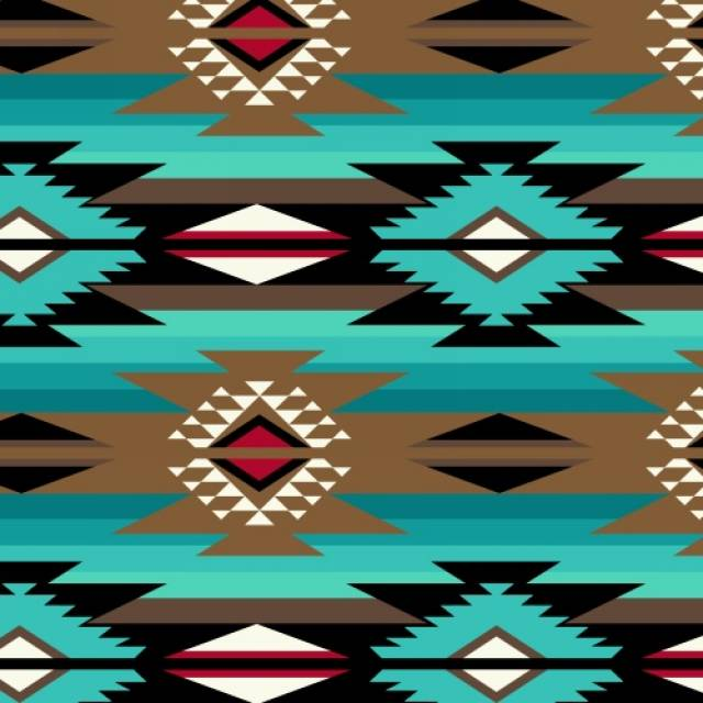 Raindance Teal Native American Fleece Fabric