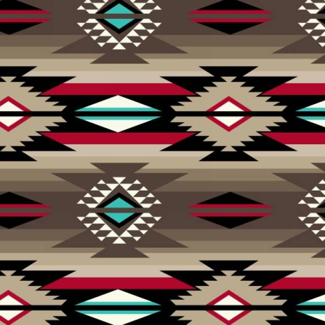 Raindance Taupe Native American Fleece Fabric