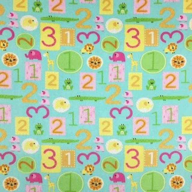 Alphabets with Numbers Allover Fleece