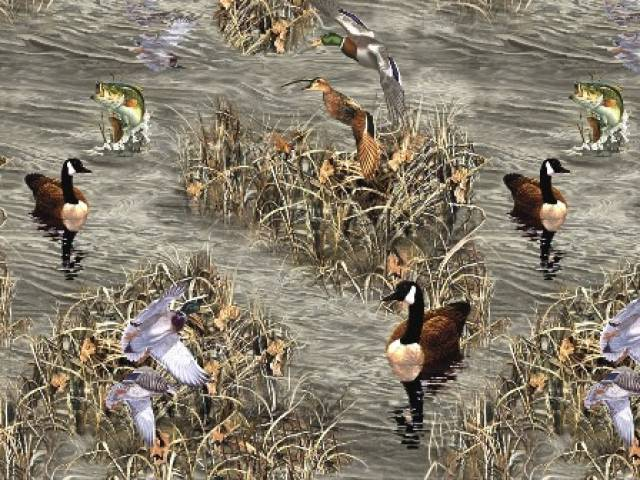 RealTree Ducks and Fish Fleece