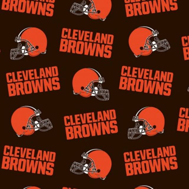 Cleveland Browns Allover NFL Fleece Fabric