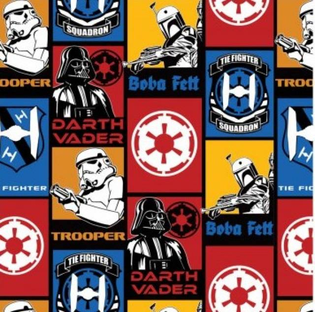 Star Wars Darth Vader Squadron Fleece Fabric