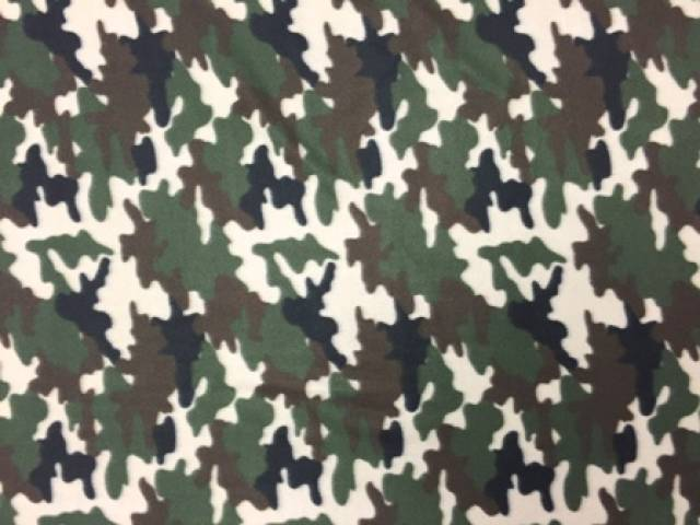Army Green Camouflage Fleece Fabric