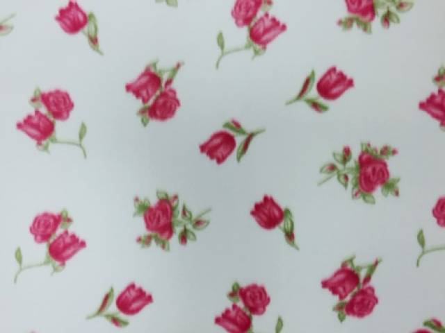 Roses In Bloom Floral Flower Fleece Fabric