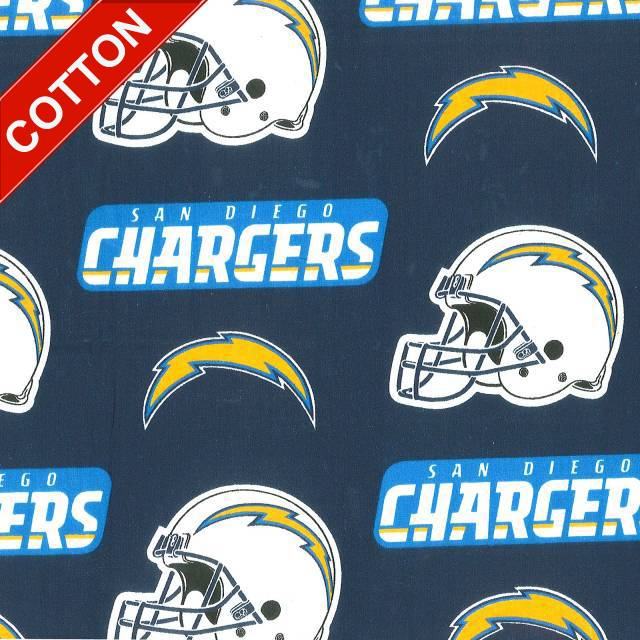 San Diego Chargers Fleece Fabric: - Fabrics By The Yard