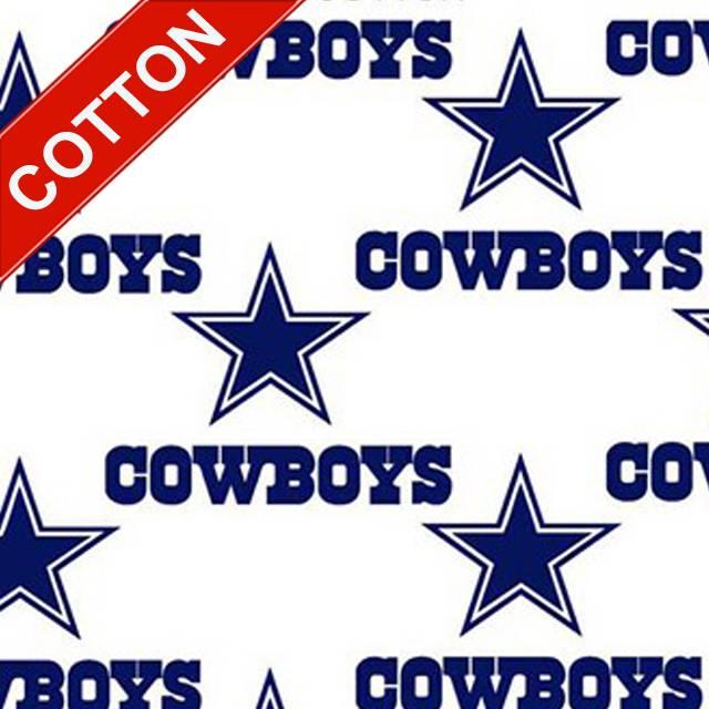 Dallas Cowboys White Fabric