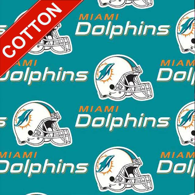 Miami Dolphins NFL Cotton Fabric