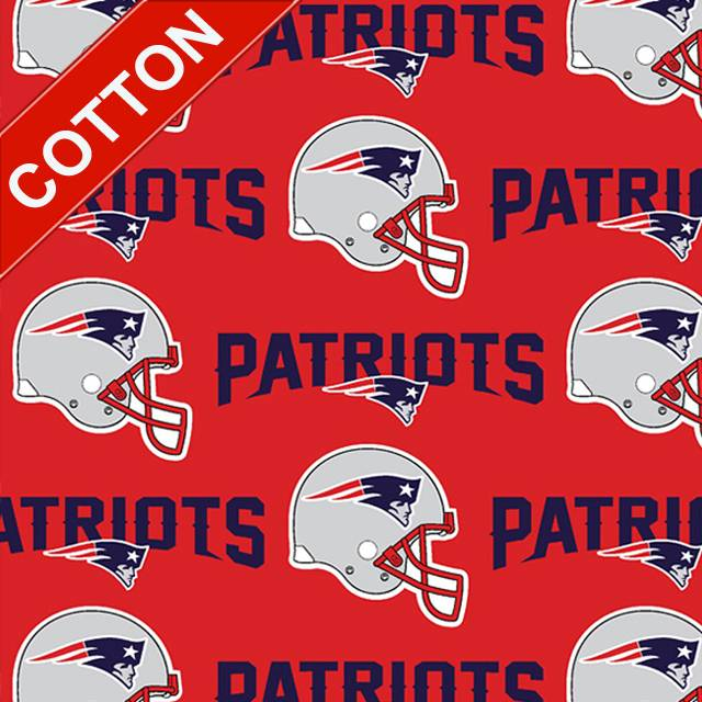 New England Patriots Red NFL Cotton Fabric