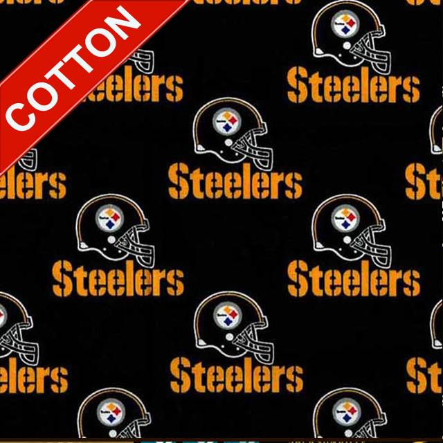 Pittsburgh Steelers Black NFL Cotton Fabric