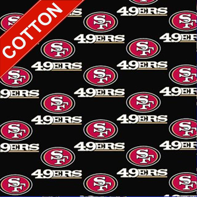 San Francisco 49ers Allover NFL Cotton Fabric