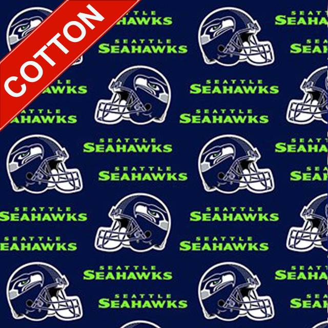 Seattle Seahawks Allover NFL Cotton Fabric
