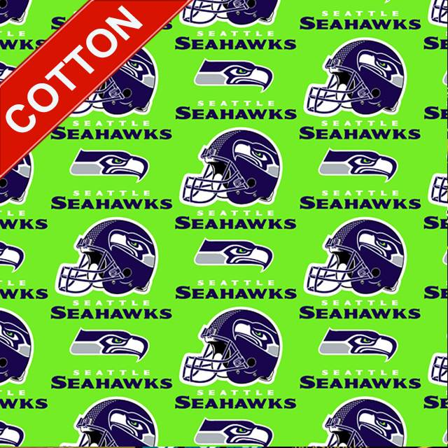 Seattle Seahawks Green NFL Cotton Fabric