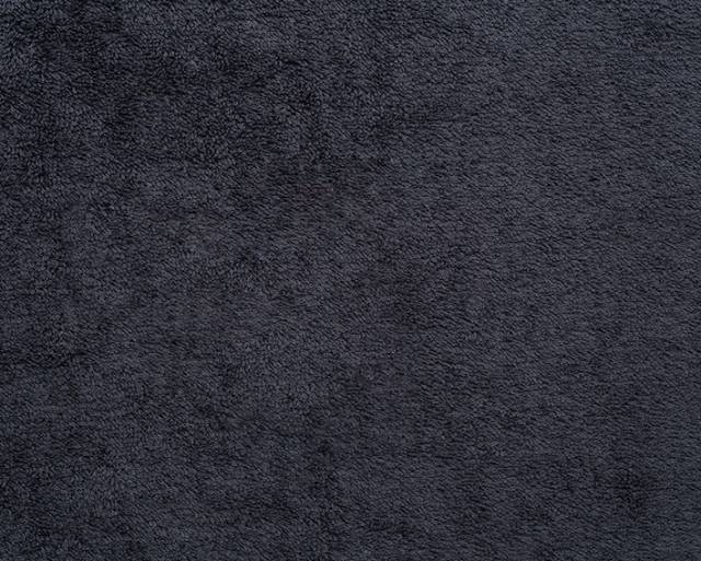 Black Terry Cloth Cotton Fabric - Fabric by the Yard