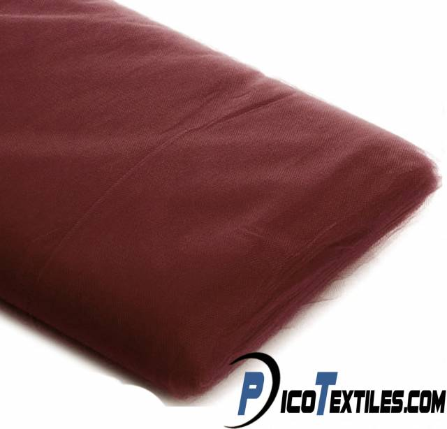 Burgundy Tulle Fabric by the Bolt