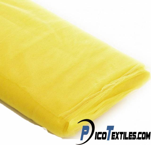 Yellow Tulle Fabric by the Bolt
