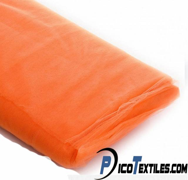 Orange Tulle Fabric by the Bolt